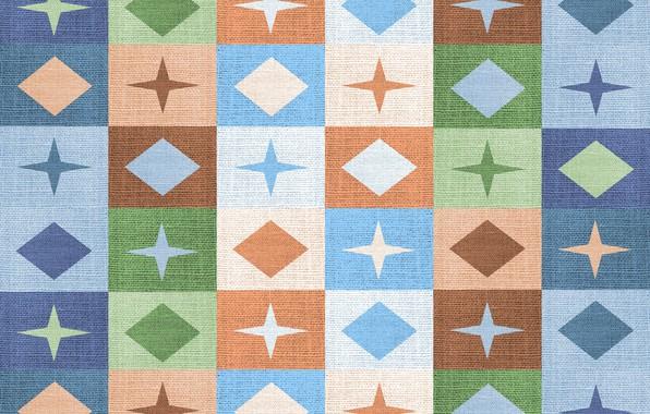 Картинка звезды, фон, текстура, квадраты