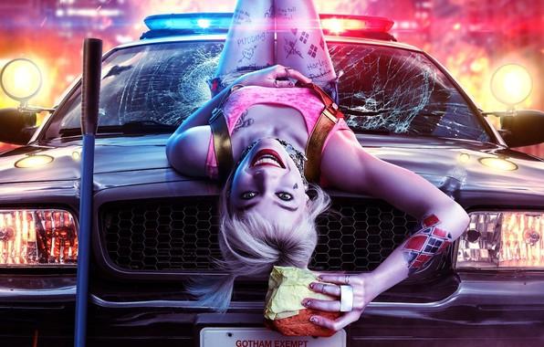 Картинка Харли Квинн, Harley Quinn, Birds of Prey, Margot Robbie, Марго Робби, 2020, superhero film, супергеройский …