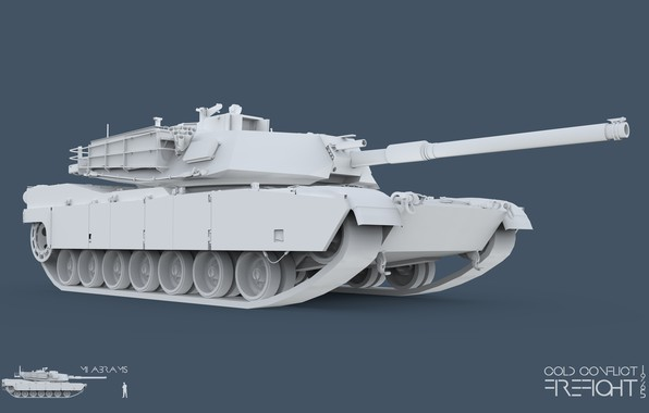Картинка 3ds max, Abrams, tank, CC Firefight 1985, keyshot, cold conflict, Firefight 1985