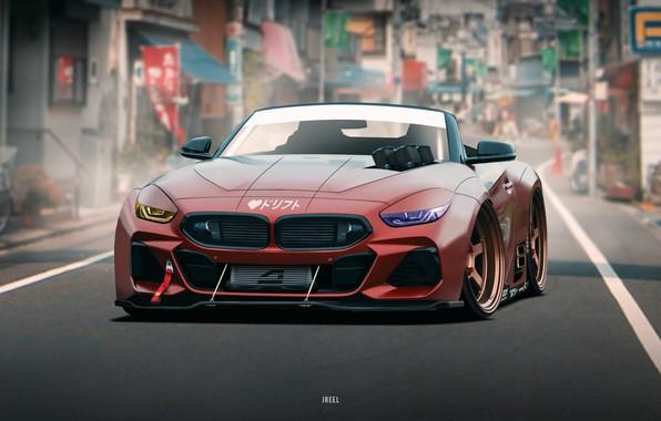 Картинка Авто, BMW, Машина, Арт, Concept Art, Передок, BMW Z4, Transport & Vehicles, by JREEL, JREEL, ...
