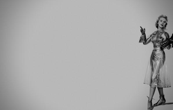 Картинка робот, ретрофутуризм, Forbidden Planet, Anne Francis, запретная планета