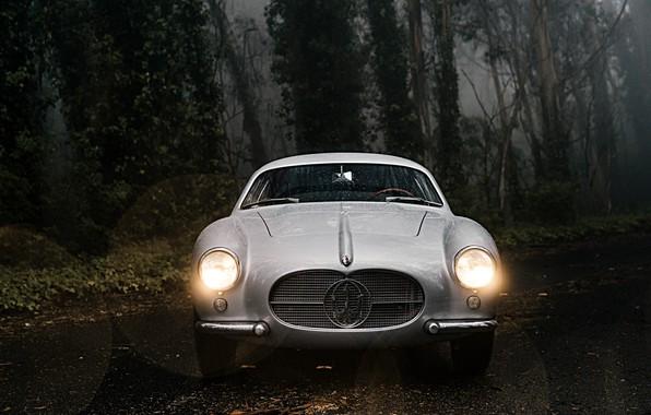 Картинка Лес, Классика, Автомобиль, 1956, Maserati A6G 2000 Berlinetta