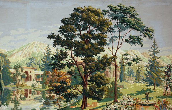 Картинка 1926, Charles Ephraim Burchfield, The Riviera, center panel