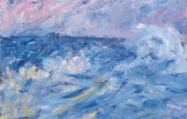 Картинка картина, морской пейзаж, Джон Питер Расселл, John Peter Russell, Бурное Небо и Море. Бель-Иль. Бретань