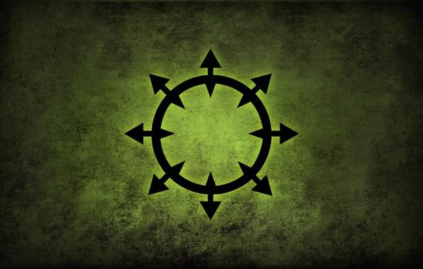 Картинка green, logo, Warhammer, chaos, fon