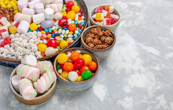 Картинка конфеты, сладости, драже, маршмеллоу