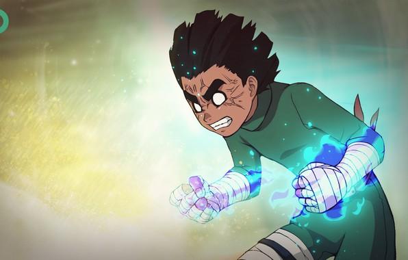 Картинка аниме, наруто, naruto, anime, naruto shippuden, gaara, рок ли, rock lee, гаара