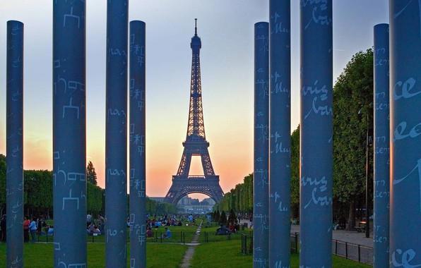 Картинка Франция, Париж, Эйфелева башня, Стена мира