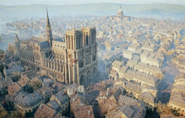Картинка Париж, Ассасин, Нотр-Дам