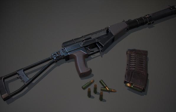 Картинка рендеринг, оружие, автомат, gun, weapon, render, Штурмовая винтовка, АС Вал, Вал, assault Rifle, VAL, AS …