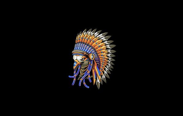 Картинка Eagle, Art, Vector, Background, Bird, Illustration, Minimalism, Feather, Animal, Angga Tantama, Indian Eagle