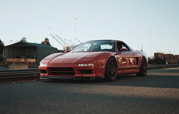 Картинка Red, Road, Honda NSX, Sport Car, Japan Car