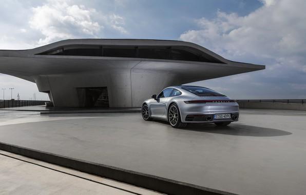 Картинка купе, 911, Porsche, площадка, Carrera 4S, 992, 2019
