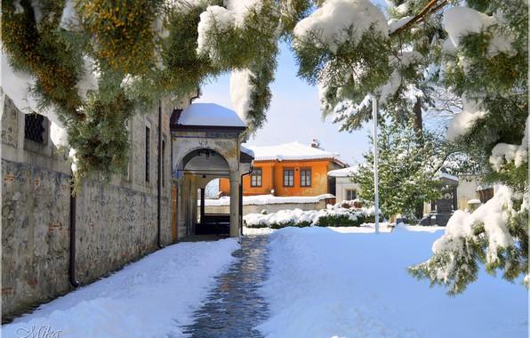 Картинка Дома, Зима, Снег, Winter, Snow