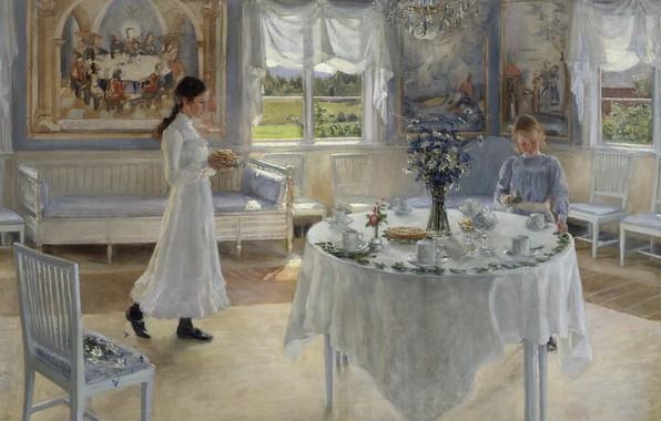Картинка 1902, шведская художница, Фанни Брате, Swedish painter, Fanny Ingeborg Matilda Brate, Фанни Ингеборг Матильда Брате, …