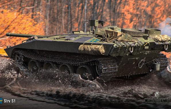 Картинка лес, игра, game, forest, bitch, wot, самоходка, орудие, Мир Танков, противотанковая, world of Tanks, стерва, …