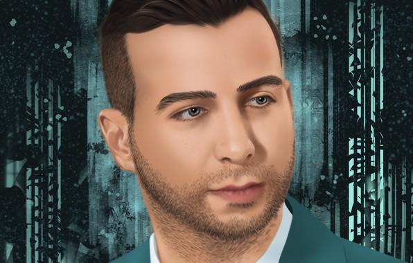 Картинка Портрет, Photoshop, Иван Ургант, Компьютерная графика, Вечерний Ургант, Цифровой рисунок