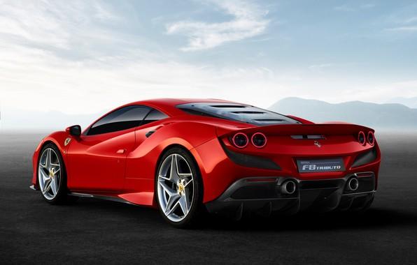 Картинка машина, небо, оптика, Ferrari, спорткар, F8 Tributo