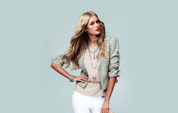 Картинка взгляд, девушка, украшения, поза, фото, модель, волосы, красивая, пиджак, Tetyana Piskun