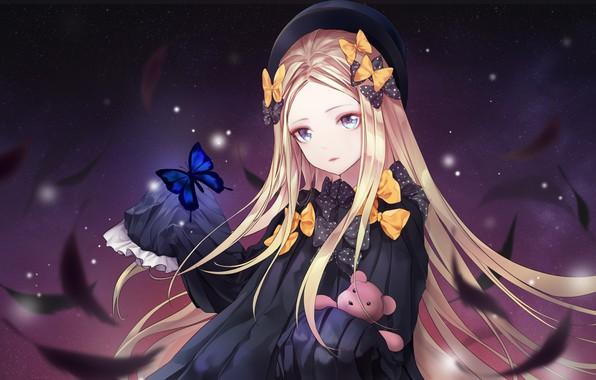 Картинка девушка, ночь, перья, Fate / Grand Order, Судьба великая кампания