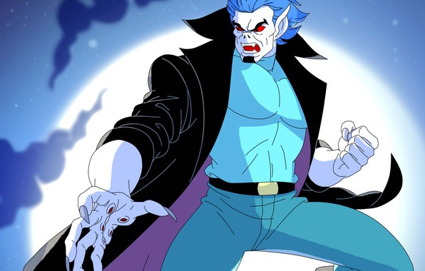 Картинка ночь, луна, вампир, Morbius, Spider-Man The Animated Series, Майкл Морбиус, living vampire