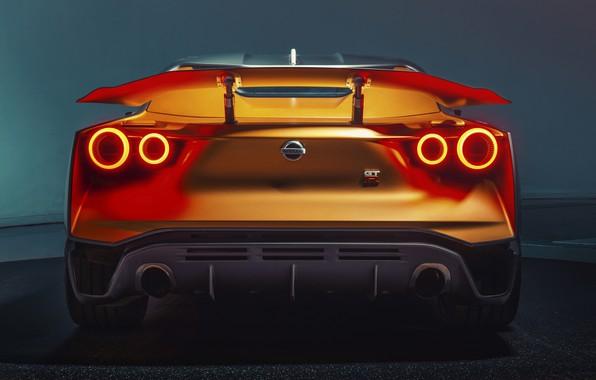 Картинка Concept, Nissan, вид сзади, 2018, ItalDesign, GT-R50
