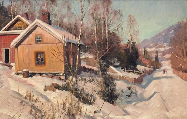 Картинка 1918, датский живописец, Петер Мёрк Мёнстед, Peder Mørk Mønsted, Danish realist painter, oil on canvas, …