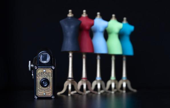 Картинка camera, black background, Coronet Midget