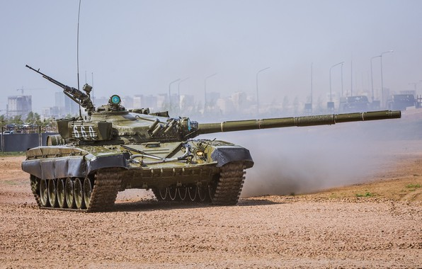 Картинка полигон, Т-72, демонстрация, танк России