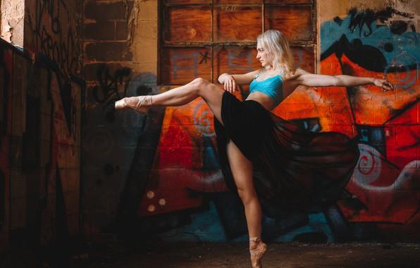 Картинка настроение, ноги, граффити, танец, балерина, Hannah, Saulius Ke, Saulius Kerikas