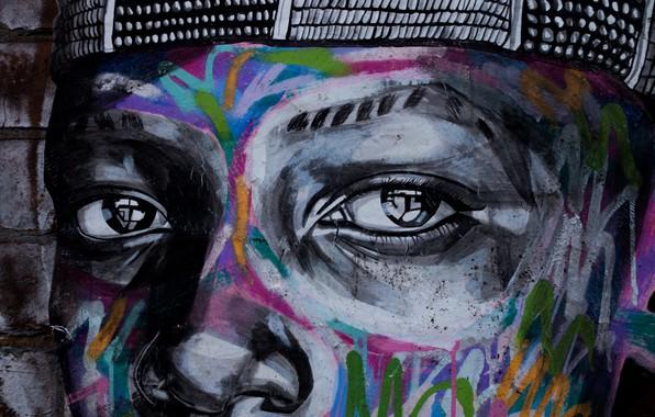 Картинка graffiti, eyes, art, painting, street art