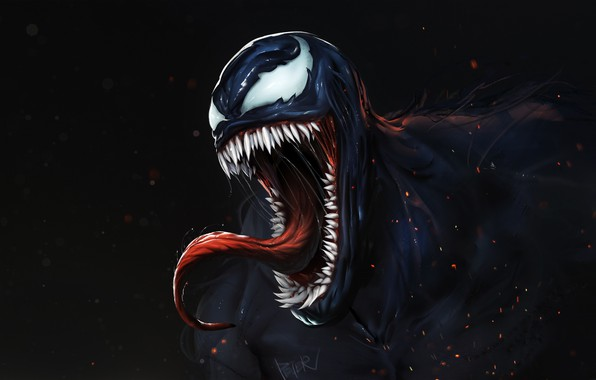 Картинка Язык, Зубы, Art, Comics, MARVEL, Concept Art, Веном, Venom, Symbiote, MARVEL Comics, Comic Art, Comics …