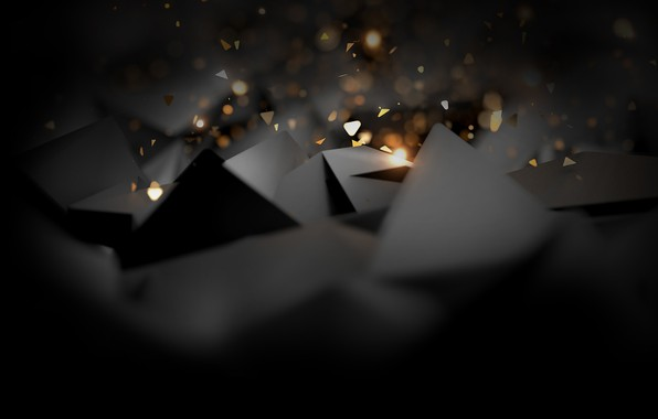 Картинка фон, черный, Треугольник, абстрактные