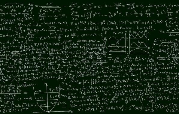 Картинка формулы, dual monitor, физика, школьная доска, Энштейн, Наука
