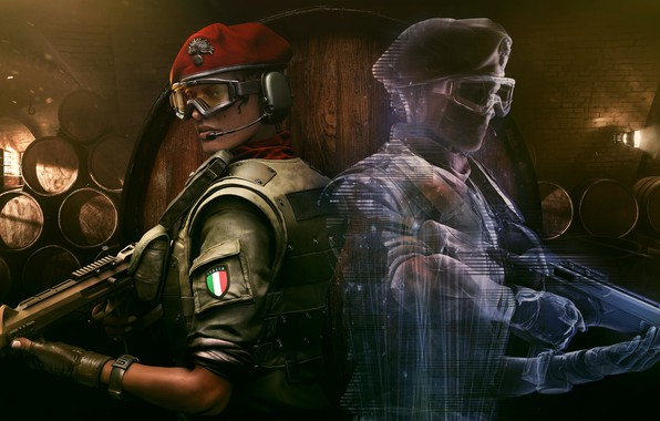 Картинка оружие, игра, солдаты, парни, Tom Clancy`s Rainbow Six Siege