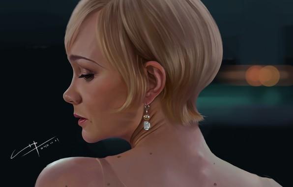 Картинка девушка, портрет, арт, 2013, c home