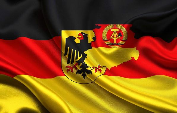 Картинка флаг, герб, германия, flag, deutschland, german, coat of arms, фрг, гдр