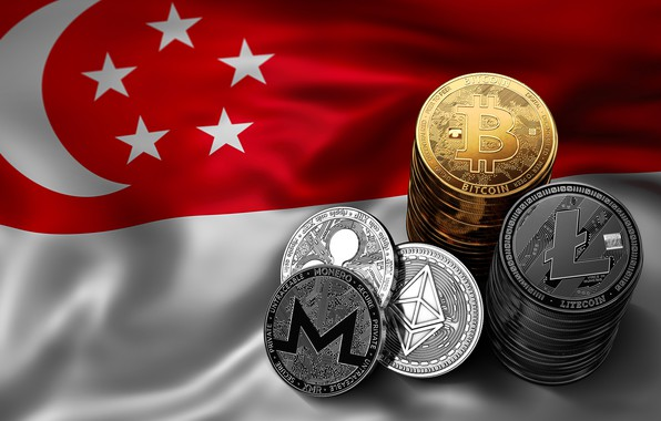Картинка размытие, флаг, сингапур, singapore, fon, flag, bitcoin, ripple, btc, litecoin, monero, ethereum
