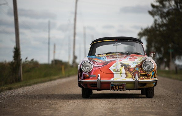 Картинка porsche, 1964, 356, cabriolet, by janis jopli, art car