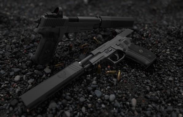 Картинка рендеринг, пистолет, оружие, pistol, weapon, render, custom, рендер, Legion, 3d art, sig Legion, sig, сиг, …