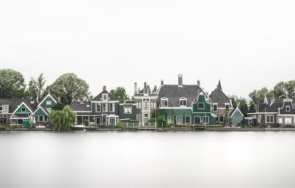 Картинка отражение, дома, Нидерланды