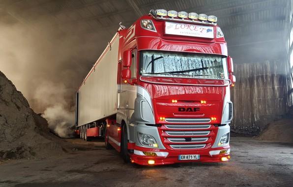 Картинка машина, красный, грузовик