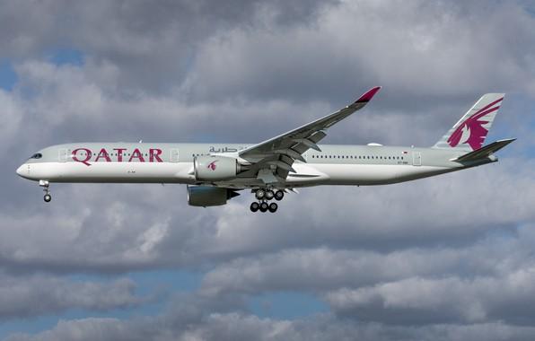 Картинка Airbus, Qatar Airways, A350-1000
