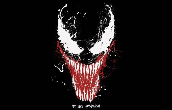 Картинка фон, краски, Глаза, black, Sony, постер, Eyes, 2018, venom, paint, Comics, MARVEL, Venom, Марвел, Комиксы, ...