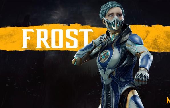 Картинка девушка, girl, боец, киборг, Frost, cyborg, NetherRealm Studios, Mortal Kombat 11, Фрост, криомант, Смертельная Битва …