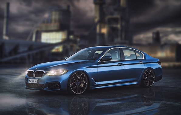 Картинка Авто, Ночь, Синий, BMW, Машина, Car, Автомобиль, Art, Vehicles, Transport, Transport & Vehicles, by Burak ...