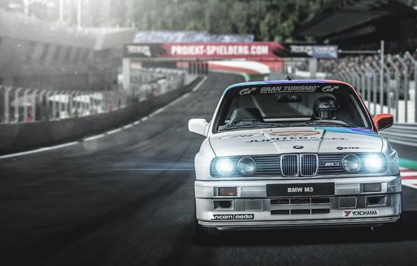 Картинка Авто, BMW, Машина, Гонка, Car, Спорткар, BMW E30, Game Art, Gran Turismo Sport, Transport & ...