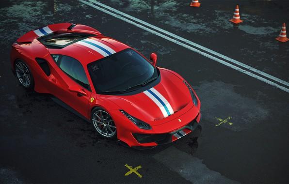 Картинка Красный, Машина, Ferrari, Суперкар, Рендеринг, Спорткар, Vehicles, 488, Ferrari 488, Transport, Transport & Vehicles, by …