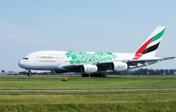 Картинка самолет, фото, A380, Airbus, Airplanes