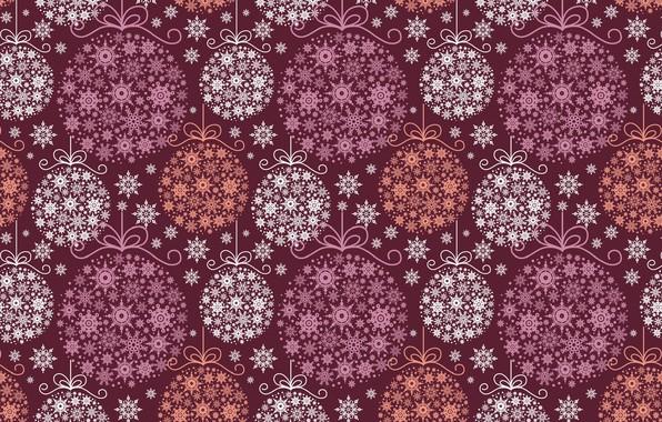 Картинка праздник, новый год, арт, украшение, снежинка, новогодние шары